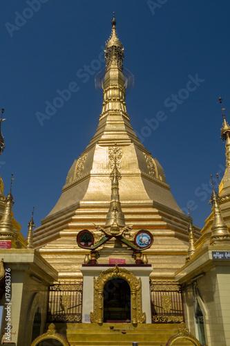 Myanmar Yangon sule pagoda temple Poster