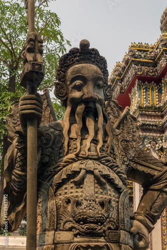 Thailand Bangkok Grand Palace Chinese Warrior Statue Poster