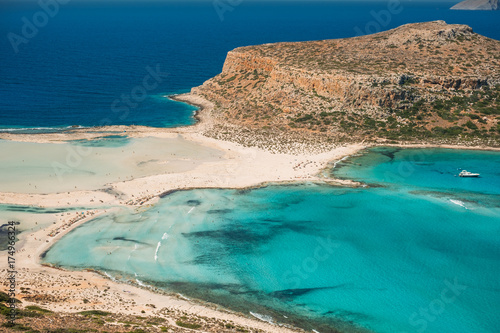Fotobehang Canarische Eilanden Amazing beach with turquoise water at Balos Lagoon and Gramvousa in Crete, Greece