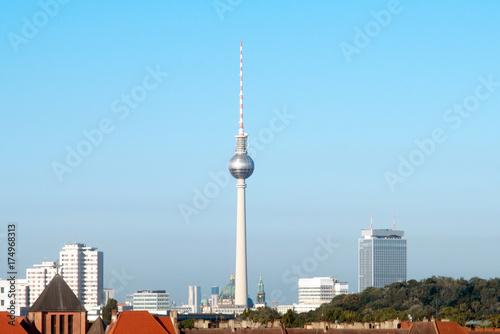 Obraz na dibondzie (fotoboard) Zobacz Berlin Mitte z Prenzlauer Berg