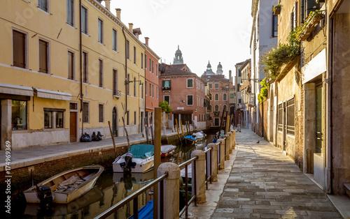 Plakat Ulica w Wenecja miasteczku, Włochy