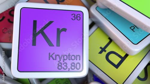 Krypton kr block on the pile of periodic table of the chemical krypton kr block on the pile of periodic table of the chemical elements blocks chemistry urtaz Choice Image