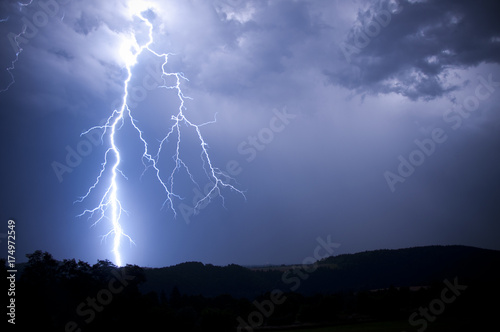lightning storm Wallpaper Mural