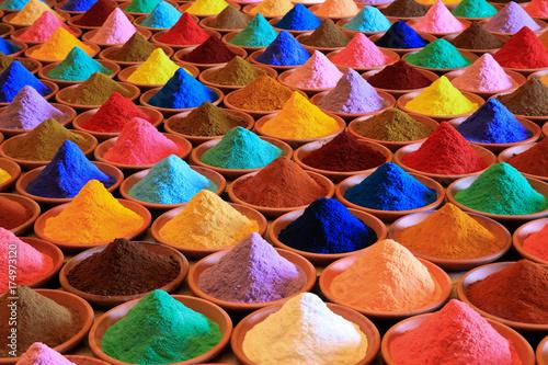Fotografie, Obraz  multicolored powder dyes