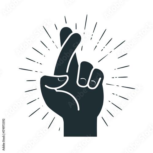 Valokuva Fingers crossed, hand gesture