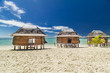 samoan fale bungalow at the beach in samoa savaii lano beach
