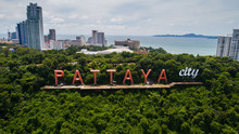 Aerial Drone View Of Pattaya C...
