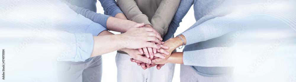 Fototapeta People hands together