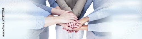 People hands together