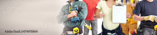 Fotografia construction workers group