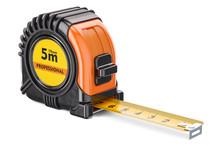 Orange Tape Measure, 3D Render...
