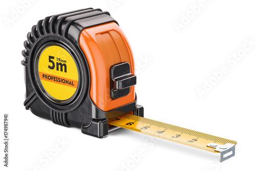 Obraz Orange tape measure, 3D rendering - fototapety do salonu