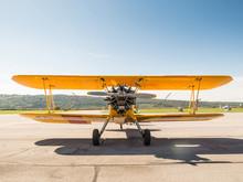 Vintage Yellow Airplane