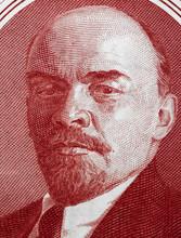 Vladimir Lenin Portrait On Old...