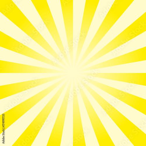 Fotografie, Obraz  Divergent rays background . Vector illustration.