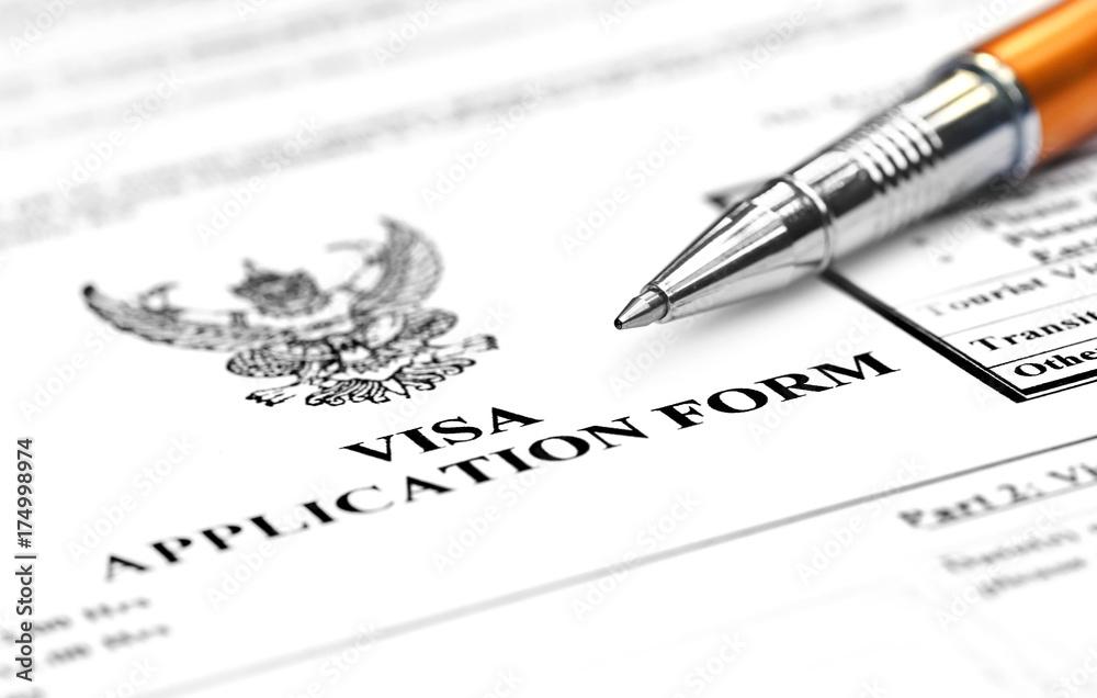 Fotografie, Obraz  Visa application form