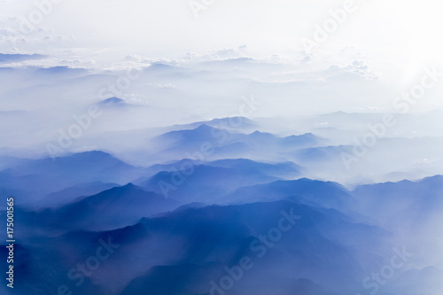 Photo Arial view of mountains