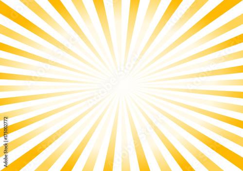 Fototapeta Abstract Yellow White rays background. Vector
