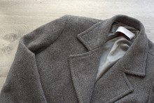 Women's Wool Coat Gray Color.