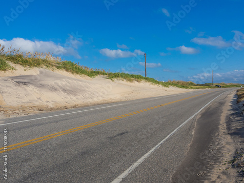 Poster Route 66 Road accross the sand dunes at