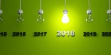 2018 New Year Sign Under  Ligh...