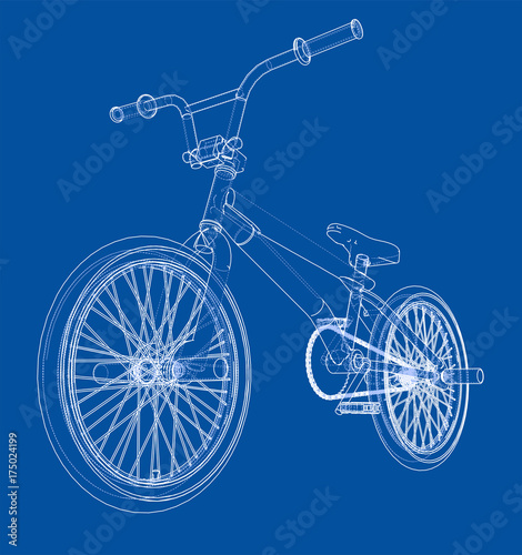 Fotografia Bicycle bmx. Vector