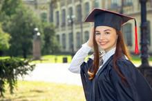Woman On Her Graduation Day. U...