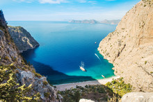 Butterfly Valley Sea View And Boat Oludeniz,Turkey