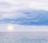Sea simple view. Delicate colors of the sea and sky, the incoming foamy wave. Minimalism in colors and details. Free space for your texts and ideas. - 175031535