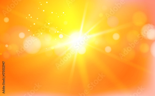 Foto  Abstract flash over bright orange background