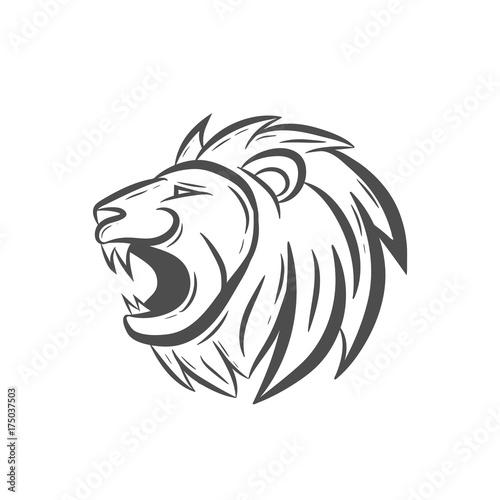 Fototapety, obrazy: head roaring lion art