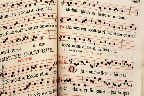 Livre de partitions de chants liturgiques Canvas Print
