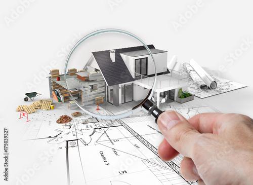 Fotografia, Obraz  Projet d'agrandissement rénovation extension d'une maison