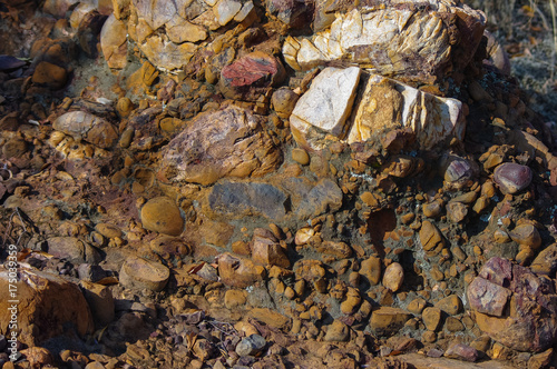 Fotografija  Conglomerate, two billion years old