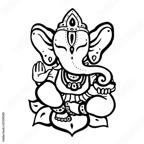 Hindu God Ganesha фототапет