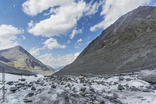 Zdjęcie XXL Lodowiec Akkem. Krajobraz gór Ałtaju. Rosja