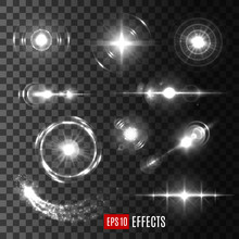 Vector Light Flashes And Star ...
