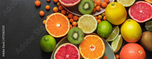 Foto op Plexiglas Vruchten Closeup of fresh fruits