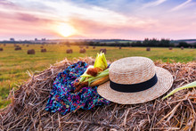 Corn And Straw Hat