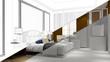 Stadien bei Planung von einem Hotelzimmer