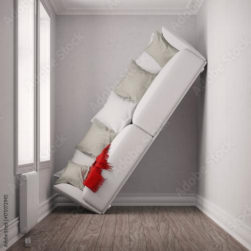 Fotografiet Raum zu klein für Sofa