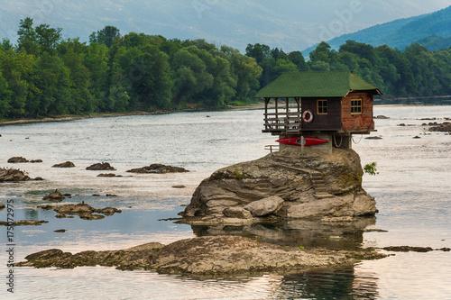 Photo Lonely house on the river Drina in Bajina Basta, Serbia