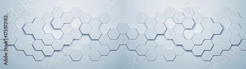 Obraz Panorama Hintergrund mit Hexagon Waben Muster - fototapety do salonu
