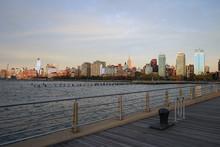 New York City Harlem Side With Hudson River