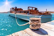 Tied Luxurious Yacht