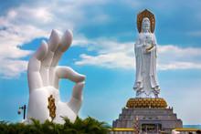 White GuanYin Statue In Nansha...