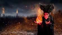 Hexe Mit Magie