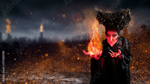 Fotografie, Tablou Hexe mit Magie