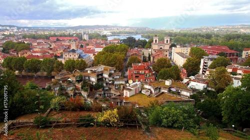 givors, cité des étoiles, patrimoine et panorama vu depuis le chateau Canvas Print