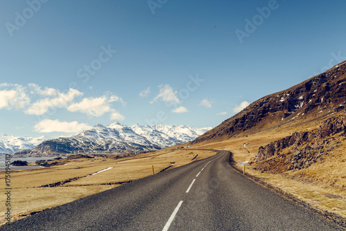 Photo Stands Eggplant Road in Iceland
